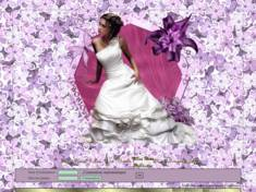 Femme sur fond lilas