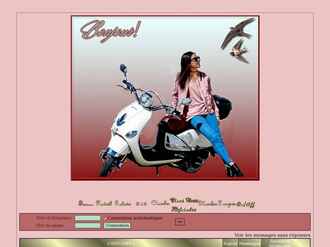 Femme en scooter
