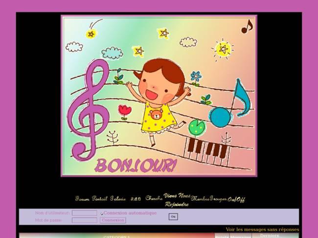 Fillette et la musique