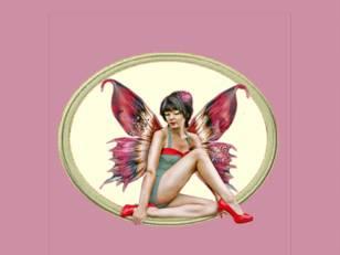 Femme papillon à talon...