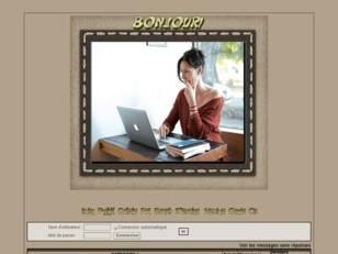 Femme sur internet