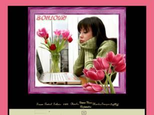 Femme & tulipes rose
