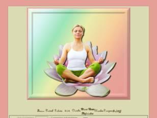 Femme médite sur lotus