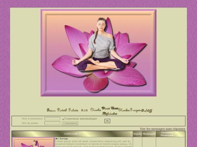 Femme qui médite sur lotus