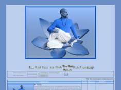 Homme fait yoga (bleuté)