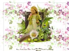 Fillette et fleur