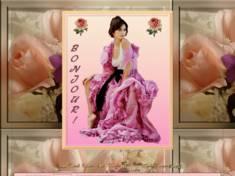 Jolie femme aux roses