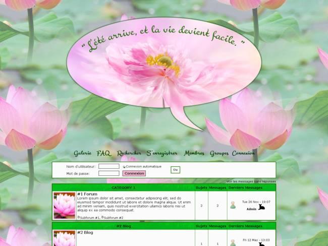 l'été arrive avec les fleurs de Lotus