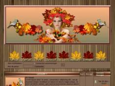 Femme feuilles automne