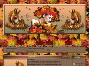 Femme automne & écureuil
