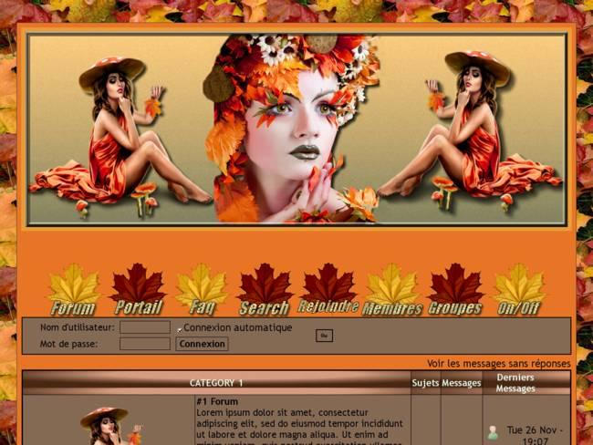Femme aux fleurs d'automne