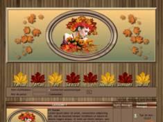 Femme feuilles d'automne