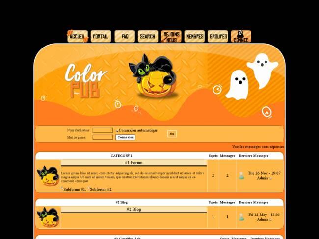 Theme Halloween Color Pub