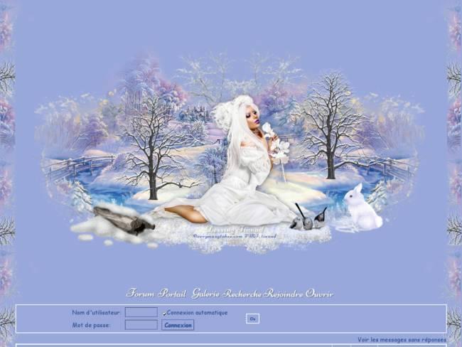 Hiver Femme en Blanc