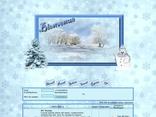 Bienvenue à l'hiver...