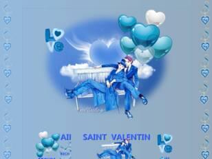 St valentin  bleu 2021