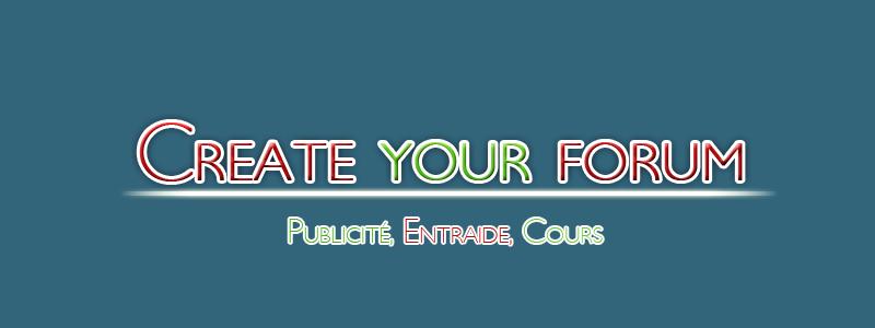 Create your forum